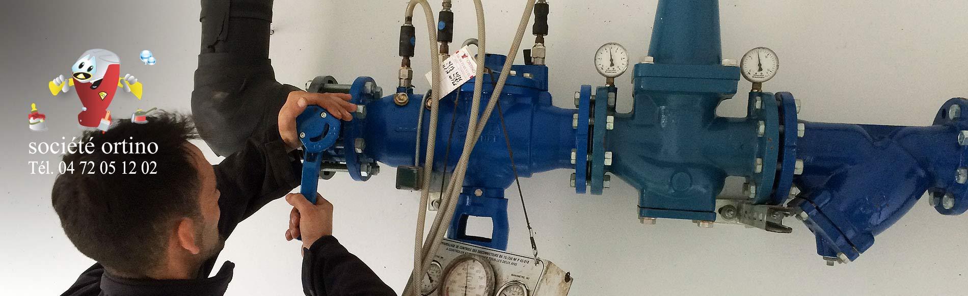 Installation et maintenance de disconnecteurs, appareils anti-pollution